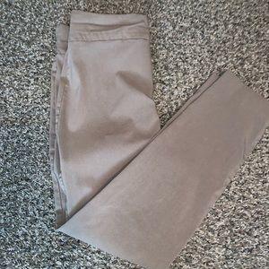 Mid waist stretchy khaki work pants. Gently used.